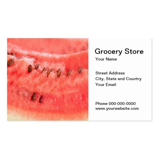 Grocery Store Business Card Business Cards