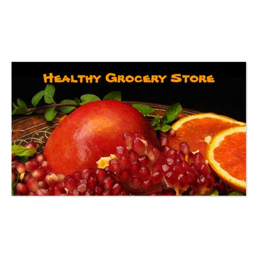 Grocery Store Business Card Template