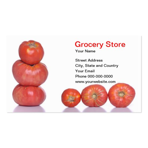 Grocery Store Business Card Business Card