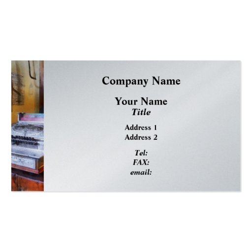 Grocery Store Cash Register Business Cards