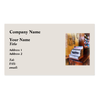 Grocery Store Cash Register Business Card Template