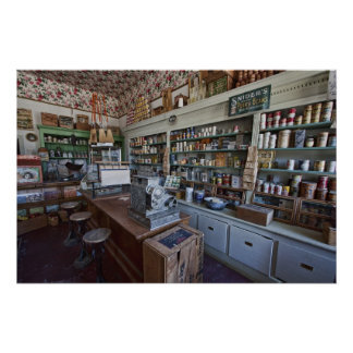 GROCERY STORE of YESTERYEAR - VIRGINIA CITY Poster