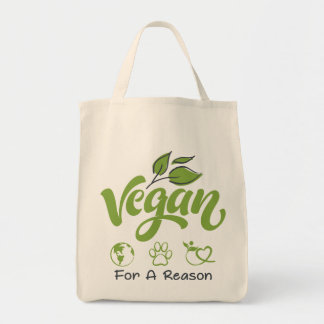 Grocery Tote Bag Designed For Vegans