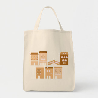 "Grocery tote bag with ""Italia"" theme"