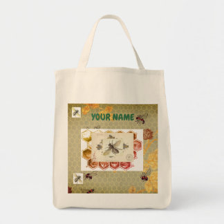 Grocery Tote CUSTOMIZABLE W/ BEES