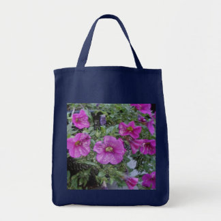 Grocery tote with flowers