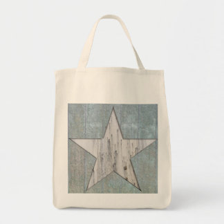 Grocery Tote with rustic star design