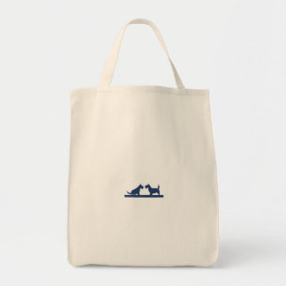 Grocery Tote with Scottish Terriers