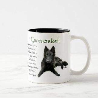 Groenendael Belgian Sheepdog Gifts Two-Tone Coffee Mug
