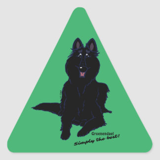 Groenendael - Simply the best! Triangle Sticker