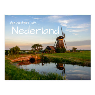 Groeten uit Nederland windmill postcard