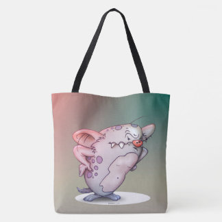GROGNON MONSTER ALIEN CARTOON FUNNY TOTE BAG