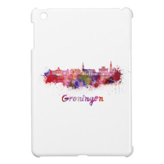 Groningen skyline in watercolor cover for the iPad mini