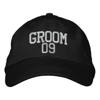 Groom: 09 Customizable Wedding Hat Embroidered Hat