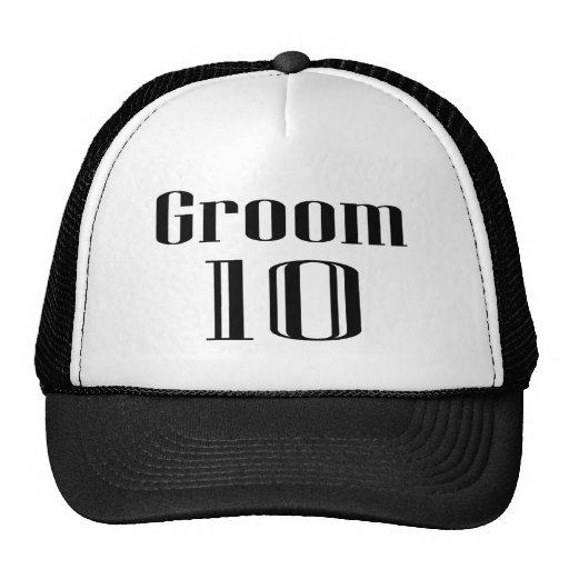 Groom 10 trucker hats