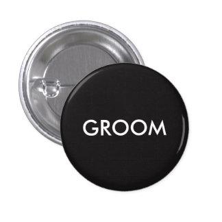 Groom 1 Inch Round Button