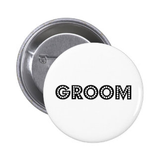 Groom 2 Inch Round Button