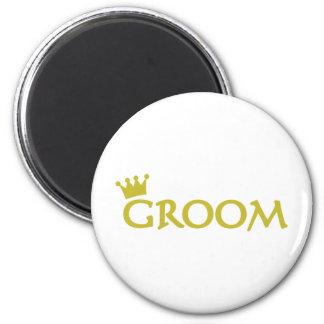 groom 2 inch round magnet