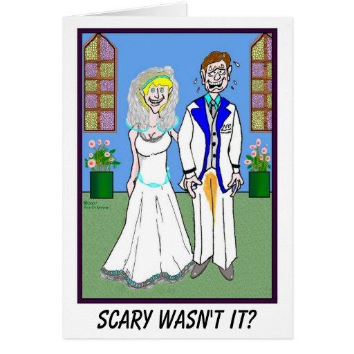 GROOM AND PEED PANTS wedding card