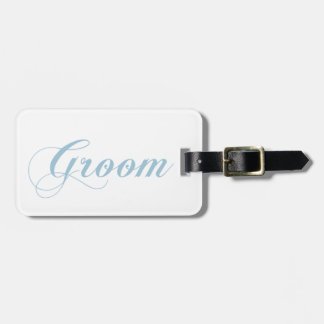 Groom Aquamarine Luggage Tag