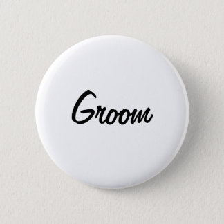 Groom Badge 2 Inch Round Button