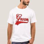 Groom baseball style design T-Shirt