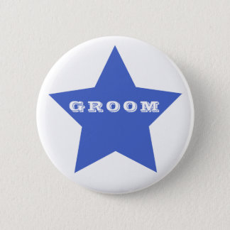 GROOM | Big Navy Blue Star Button