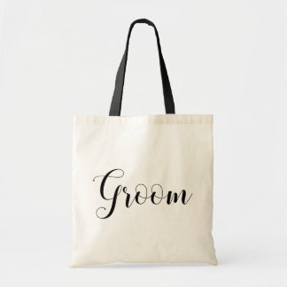 Groom black and white bag. Modern wedding favor Tote Bag