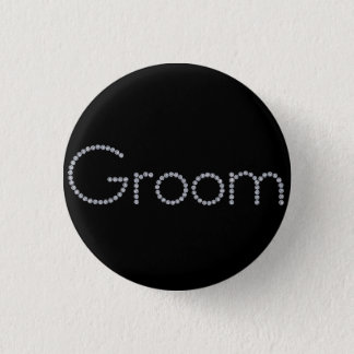 Groom bling button