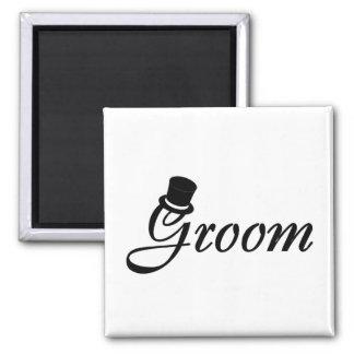 Groom (Blk Top Hat) Magnet