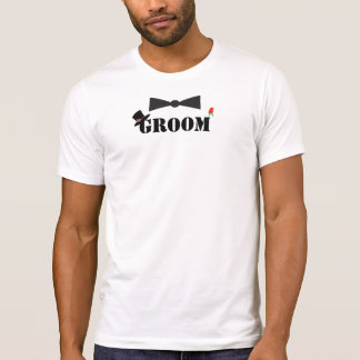 Groom Bowtie Red Rose T-shirts