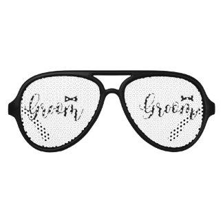 Groom-Bowtie Wedding,-Bachelor-party Aviator Sunglasses