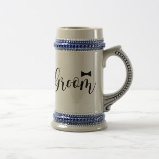 Groom-Bowtie Wedding,-Bachelor-party Beer Stein