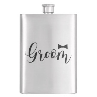 Groom-Bowtie Wedding,-Bachelor-party Flasks