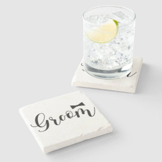 Groom-Bowtie Wedding,-Bachelor-party Stone Coaster