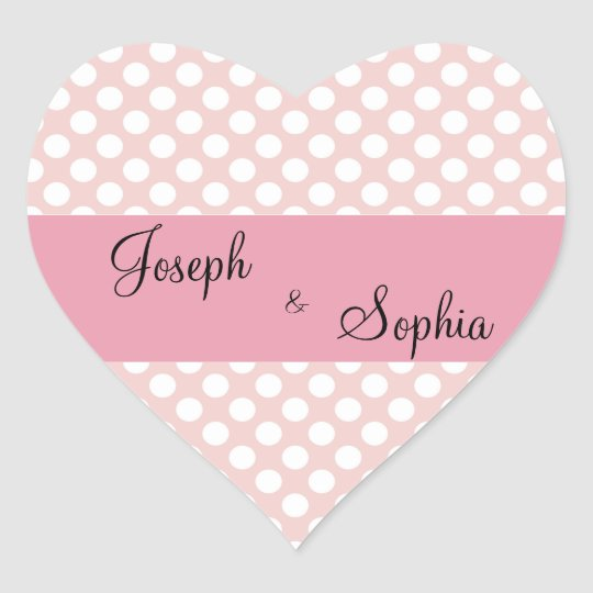 Groom & Bride Heart Shape Stickers