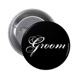 Groom Button in Black