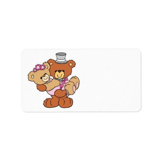 groom carrying bride cute wedding bears