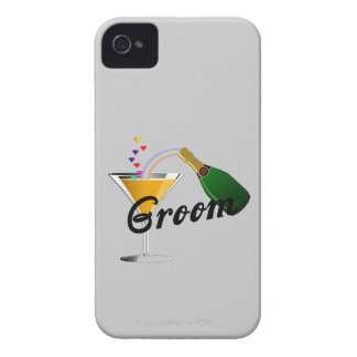 Groom Champagne Toast iPhone 4 Cases