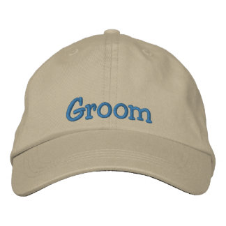 Groom Embroidered Cap