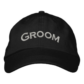 Groom Embroidered Cute Wedding Hat Embroidered Hat