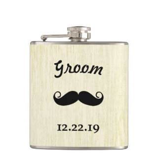 Groom Flask Mustache