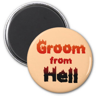 Groom from Hell Favors Magnets