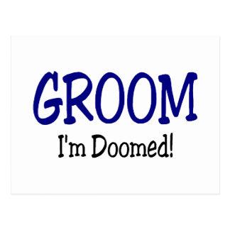 Groom Im Doomed Wedding Postcard