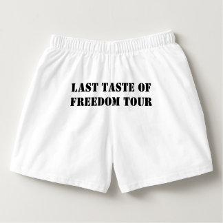Groom Last Taste Of Freedom Tour Boxers