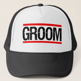 Groom Men's hat funny