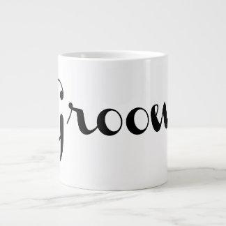 Groom Mug Black On White Jumbo Mug