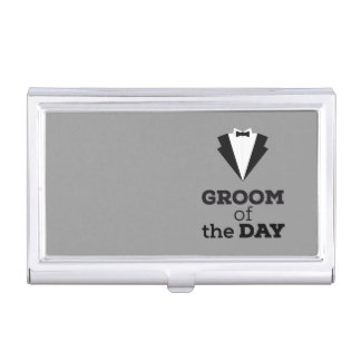 Groom of the Day Ziwph Business Card Holder