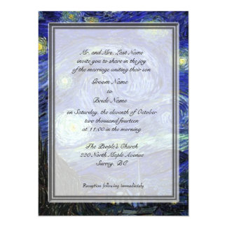 Groom parents invitation, Starry Night Card