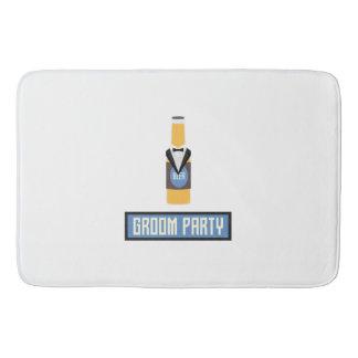 Groom Party Beer Bottle Z77yx Bath Mat